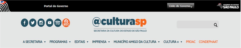 Site da Secretaria da Cultura